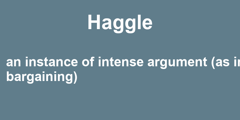 Haggle in a Sentence – 39 Real Example Sentences